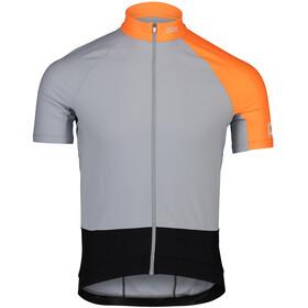 POC Essential Road Mid Trikot Herren granite grey/zink orange